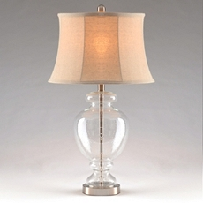 Clear Seeded Glass Table Lamp at Kirkland's