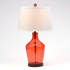 Red Seeded Glass Table Lamp at Kirkland's