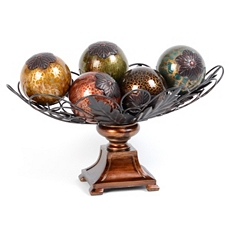 Acanthus Crackle Glass Orb Bowl Set at Kirkland's