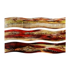 Flare Abstract Wall Plaque, Set of 3 at Kirkland's