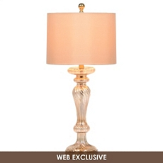 Pearlized Amber Glass Buffet Lamp at Kirkland's
