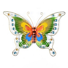 Colorful Metal & Glass Butterfly Wall Art at Kirkland's