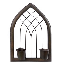 Arched Metal 2-Pot Wall Planter at Kirkland's