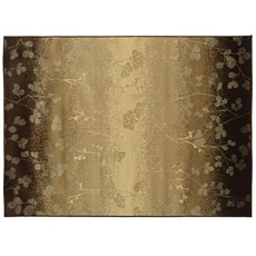 Darcy Ombre Brown Floral Area Rug, 5x7 at Kirkland's