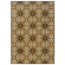 Darcy Neutral Circles Area Rug, 5x7 at Kirkland's