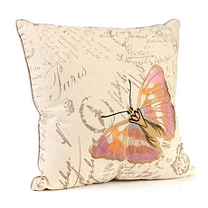 Cream Embroidered Butterfly Pillow at Kirkland's