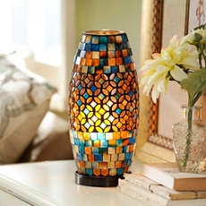 Blue & Brown Mosaic Jewel Uplight at Kirkland's