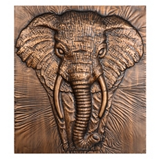 Charging Elephant Bronze Metal Wall Art at Kirkland's