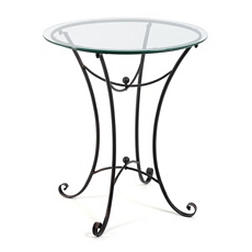 Kate Glass Top Round Accent Table at Kirkland's