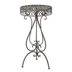 Lattice Scroll Cast Iron Accent Table at Kirkland's