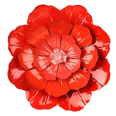 Red Flower Ombre Metal Wall Art at Kirkland's