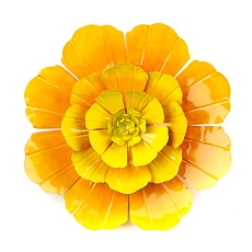Yellow Flower Ombre Metal Wall Art at Kirkland's