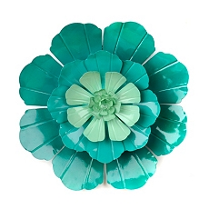 Turquoise Flower Ombre Metal Wall Art at Kirkland's