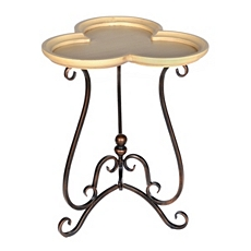 Tan Clover Accent Table at Kirkland's