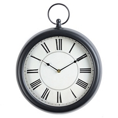 Black Pocket Watch Clock at Kirkland's