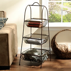 Bronze Triple Basket Floor Rack at Kirkland's
