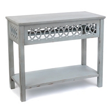Blue Lattice Console Table at Kirkland's