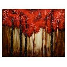 Crackling Red Trees Canvas Art Print at Kirkland's