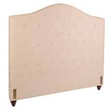 Oatmeal Linen Tufted King Headboard at Kirkland's