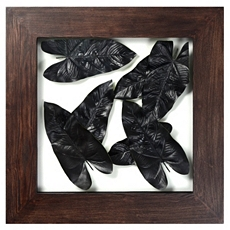 Wood & Metal Leaves Shadowbox at Kirkland's