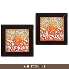 Scolly Pattern Wall Plaque, Set of 2 at Kirkland's