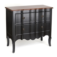 Black Bombe 2-Drawer Chest at Kirkland's