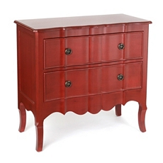 Red Bombe 2-Drawer Chest at Kirkland's