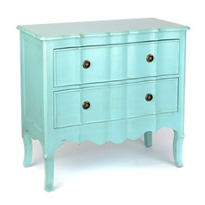 Turquoise Bombe 2-Drawer Chest at Kirkland's