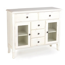 Ivory Handpainted Wood Cabinet at Kirkland's