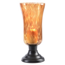 Tortoise Glass Hurricane, 15 in. at Kirkland's