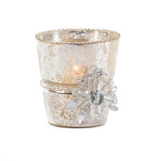 Silver Flower Votive Holder at Kirkland's