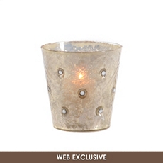Silver Jeweled Votive Holder at Kirkland's