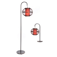 Rattan Table & Floor Lamp, Set of 2 at Kirkland's
