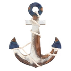 Blue & White Anchor Wall Plaque at Kirkland's