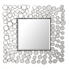 Deco Shapes Wall Mirror, 30x30 at Kirkland's