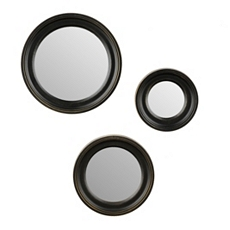Black Plate Wall Mirror, Set of 3 at Kirkland's