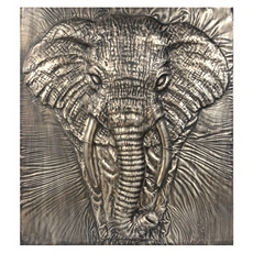 Charging Elephant Silver Metal Wall Art at Kirkland's