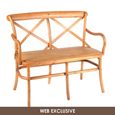 Bentwood Natural Cane Settee at Kirkland's