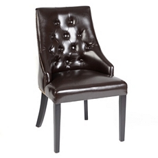 Espresso Leather Henry Accent Chair at Kirkland's