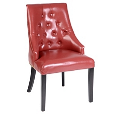 Red Leather Henry Accent Chair at Kirkland's