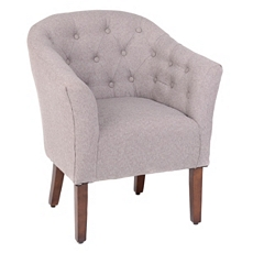 Laura Tufted Gray Tub Chair at Kirkland's