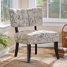 Claire Tufted Blue Floral Slipper Chair at Kirkland's