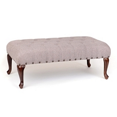 McKenzie Tufted Gray Bench at Kirkland's