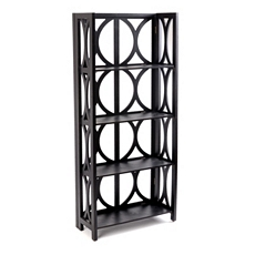 Black Geo 4-Shelf Bookcase at Kirkland's