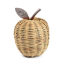 Rattan Apple Statue at Kirkland's