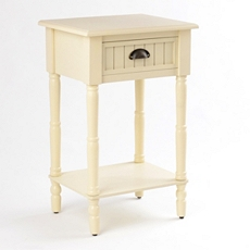 Buttermilk Beadboard Accent Table at Kirkland's