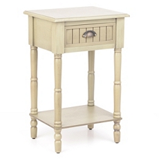 Ivory Beadboard Accent Table at Kirkland's