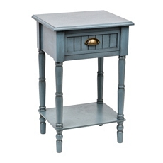 Blue Beadboard Accent Table at Kirkland's