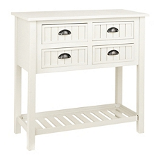Buttermilk Beadboard 4-Drawer Console Table at Kirkland's