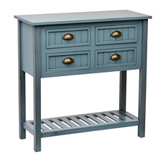 Blue Beadboard 4-Drawer Console Table at Kirkland's